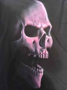 Pink Skull on a tshirt